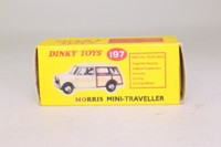 Dinky Toys 197; Morris Mini Traveller; Norev, Green, Yellow Seats