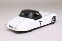Corgi Classics C819; Jaguar XK120 Roadster (1:36); Soft Top, White, Black Hood;  RN7