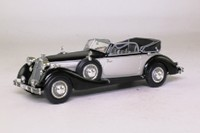 Minichamps 503.03.010.03; 1938 Horch 853A; Open Cabriolet; Black & Silver
