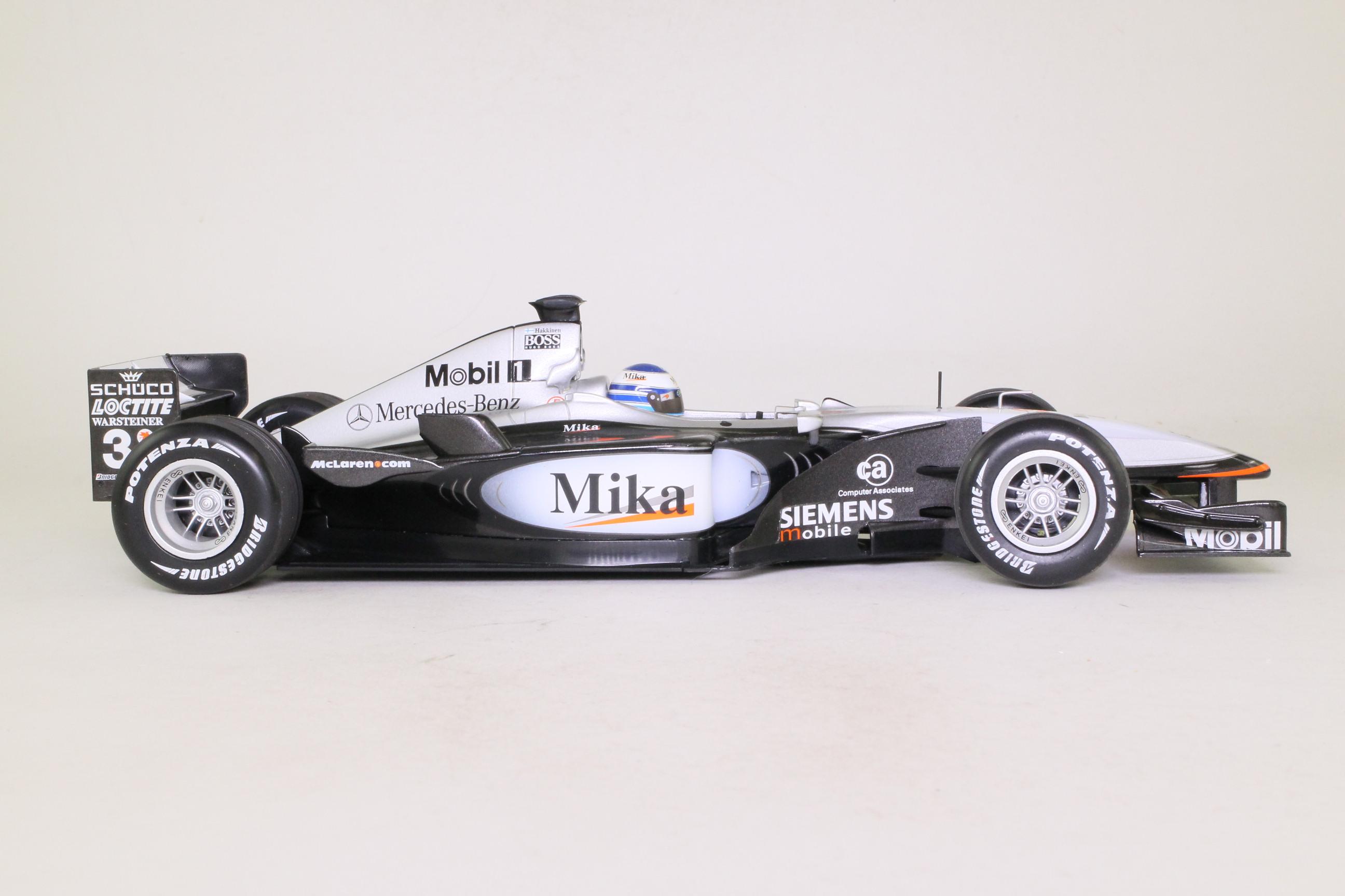 Minichamps 530 011803; McLaren MP4-16; 2001 British GP 1st; Mika Hakkinen; RN3