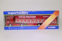 Corgi Superhaulers TY86806; ERF EC 1:64 Scale; Artic Curtainside, Castle Cement
