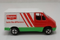 Corgi Small Scale J51/02; Ford Transit Van Bachelors (Juniors); Base Logo Blanked, Made in Great Britain.