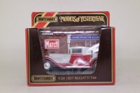 Models of Yesteryear Y-24/1; 1928 Bugatti T44; Grey, Red Chassis
