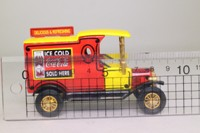 Models of Yesteryear YPC04-M; 1912 Ford Model T Van; Coca Cola; Red & Yellow