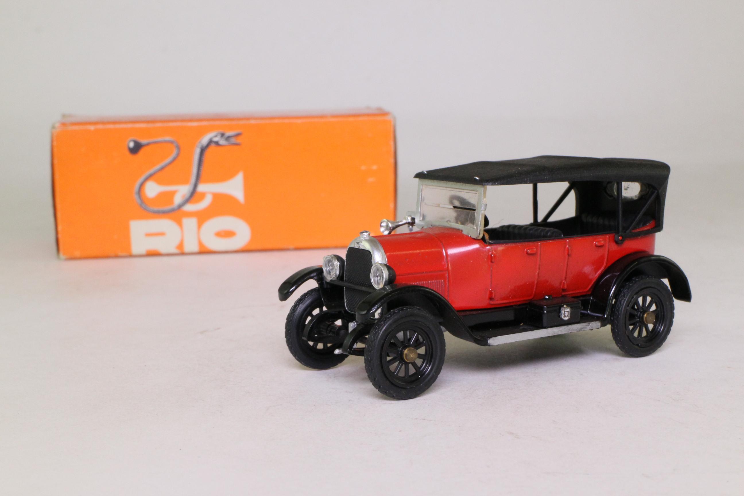Rio 4; 1918 Fiat 501s Torpedo Lusso; Soft Top, Orange