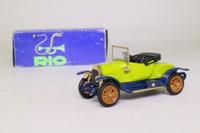 Rio 12; 1914 Fiat Zero; Scoperta, Open Top, Green & Blue
