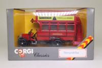 Corgi Classics C858; Thornycroft J Type Bus; General; Rt 11 Shepherds Bush, Victoria Stn, Westminster, Strand, Liverpool St