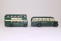 Corgi Classics D4/1; Hants & Dorset 2 Bus Set; Bedford OB Coach & AEC RT Bus