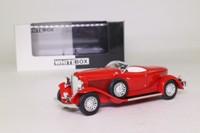 White Box 195265; 1933 Auburn Boat Tail Roadster; Open; Red
