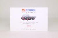 Corgi Classics 20001; Bedford S; 4 Wheel Rigid Dropside, W&J Riding Ltd, Oil Drum Load