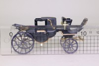 Brumm #06; 19th Cent Horse-Drawn Landau; Black Carriage, Black Hood