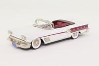 Brooklin BRK.25; 1958 Pontiac Bonneville; Open Convertible, White; Red Trim
