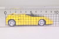Revell 8502; 1989 Ferrari Mythos; Yellow, Opening Doors, Front, Rear