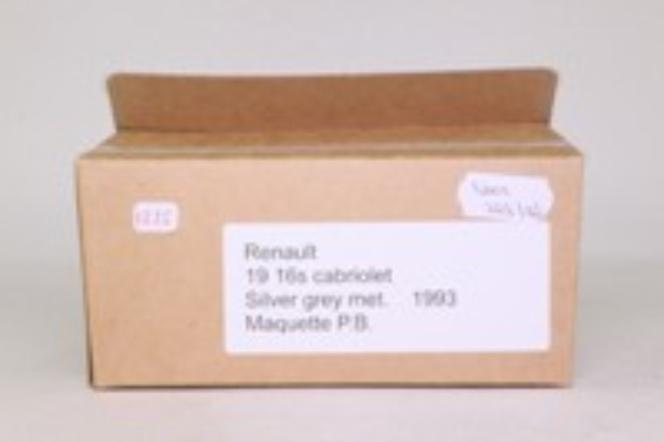 Maquette PB; 1993 Renault 19 Cabriolet 1.6S; Metallic Silver