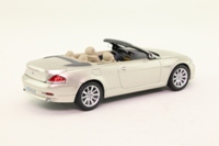 Minichamps 80420153433; 2006 BMW 6 Series Cabrio; Open; Pearl White