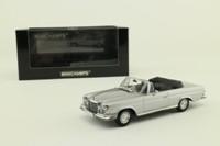 Minichamps 400 038130; 1970 Mercedes-Benz 280 SE Cabriolet; Open; Silver