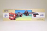Corgi Classics 97895; AEC Ergomatic Cab; 4 Wheel Rigid Flatbed & Trailer: British Road Services