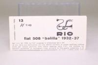 Rio 13; Fiat 508 Balilla; Maroon & Black, Opening Doors