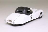 Corgi Classics C819; Jaguar XK120 Roadster (1:36); Soft Top, White, Black Hood;  RN7