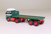 Atlas Editions 4 649 123; ERF LV Artic Truck; Flatbed Trailer; Eddie Stobart; Lynda