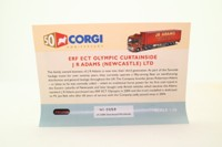Corgi Classics AN13418; ERF ECT High Entry Sleeper Artic; Curtainside, J.R.Adams, Tyneside