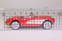 Franklin Mint; 1957 Chevrolet Corvette; Red, Cream Side Flashes