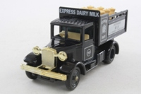 Days Gone Lledo; Express Dairy 3 Van Set; Bedford O Box Van, Model A Truck & Packard Van
