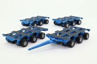 Corgi Classics; Nicolas Bogie; 4 Units, Blue, Red Wheels