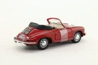 Cararama 25000; Porsche 356B Convertible; Open Top, Metallic Red