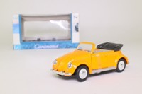 Cararama 25000; Volkswagen Beetle Convertible; Open Top, Orange