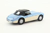 Cararama 25127; Austin Healey 3000; Closed Top, Healey Blue & Cream