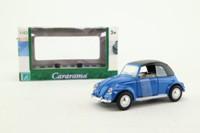 Cararama 25000; Volkswagen Beetle Convertible; Soft Top, Blue
