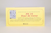 Atlas Editions; Citroen DS19; 1963 Tour de Corse 6th; Bouchet & Pointet; RN55
