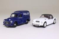 Corgi 97722; South Wales Police 2 Pce Set; Morris Minor Van, MGA Soft Top