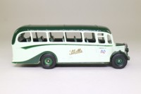 Corgi 97102; Bedford OB Duple Vista Coach; Skills of Nottingham, Skegness, Dark Green Bonnet Top