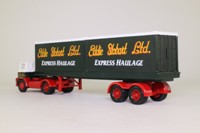 Corgi 14302; Foden S21 Mickey Mouse; Artic Flatbed Containers & Drums Load; Eddie Stobart