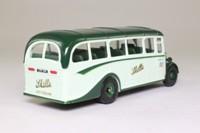 Corgi 97102; Bedford OB Duple Vista Coach; Skills of Nottingham, Skegness, Dark Green Bonnet Top
