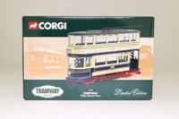 Corgi Classics 36706; Double Deck Tram, Closed Top, Closed Platform; Sheffield Corporation; Crookes via Queens Rd