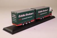 Oxford Diecast STOB032; Scania R Cab; Drawbar Trailer, Eddie Stobart