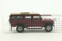 Cararama 02304; Land-Rover Defender 110 Station Wagon; Maroon, White Roof