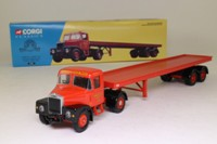 Corgi Classics 16401; Scammell Highwayman; Artic Flatbed, Siddle C Cook Ltd