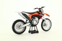 Newray 44093; KTM 350 SX-F Motorcycle; Orange and Black
