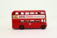 Corgi 469; AEC Routemaster Bus; London Transport; 6 Regent St; Hamley's Five Clowns Advert