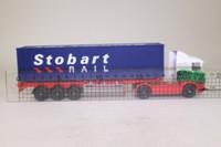 Corgi TY86650; Scania R Cab, 1:64 Scale; Artic Skeletal Trailer, Eddie Stobart