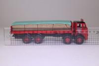 Corgi Classics 24502; Leyland Mouthorgan Cab; 8 Wheel Flatbed, London Brick Company, Sheeted Load
