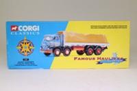 Corgi 13901; Foden S21 Mickey Mouse; 8 Wheel Rigid Flatbed, Sheeted Load; Bassett Roadway