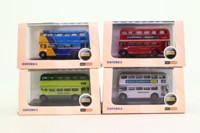 Oxford Diecast; Bargain Box; 4 Assorted N Gauge Buses
