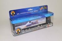Corgi TY86663; Scania R Cab, 1:64 Scale; Artic Race Transporter, Bloodhound SSC