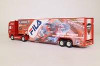 Corgi TY87009; DAF 95, 1:64 Scale; Artic Racing Transporter, Carl Fogarty, Ducati Performance