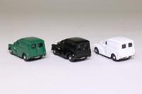 Hornby R7018; Morris Minor Van 3 Pce Set; White, Black & Green